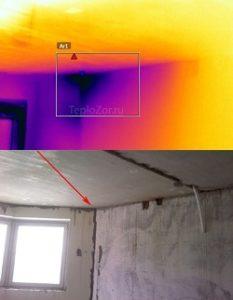 Дефекты в теплоизоляции стен и кровли