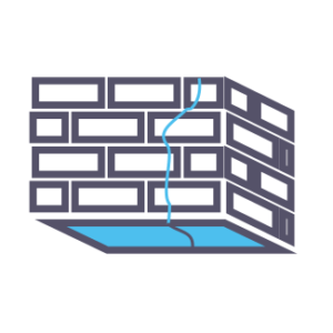 Обследование стен помещения